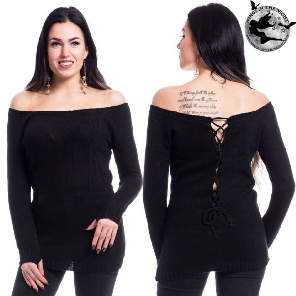 Innocent Clothing Gothic Black Hena Jumper / Top - XL